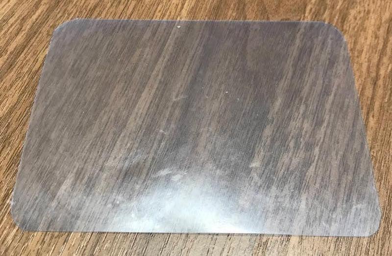 カラークリアファイルを切り出した物の画像